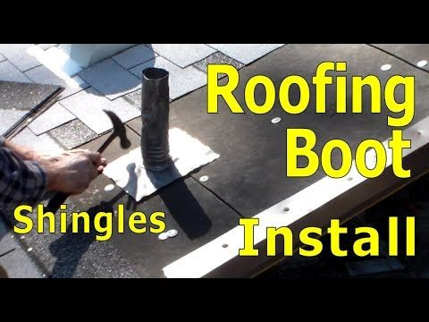 Roofing How to Install Lead Boot on Plumbing Vent Pipe Walkthrough