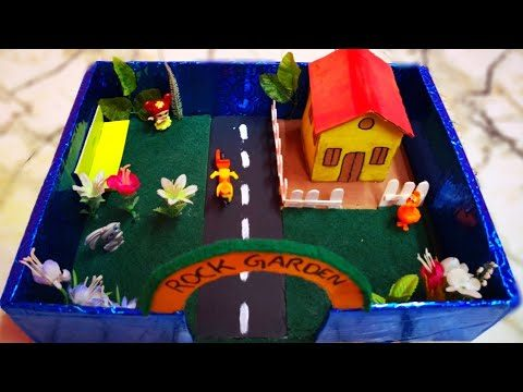 Simple Garden School Project for childrens😍#Amazingyousaf#schoolproject#Garden#easycraft