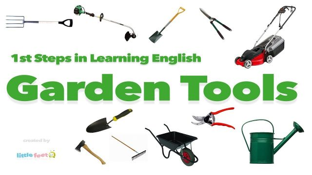 Learn GARDEN TOOLS  in English Through PICTURES | Vocabulary For Kids
