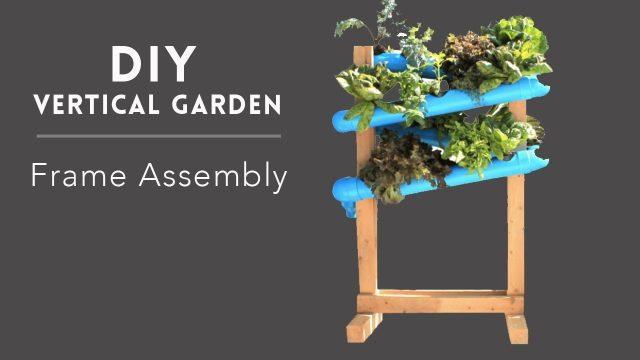 DIY Vertical Garden – 4. Frame assembly