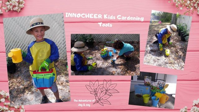 INNOCHEER Kids Gardening Tools Unbox &  Review
