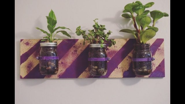 DIY Wall Mounted Indoor Planter