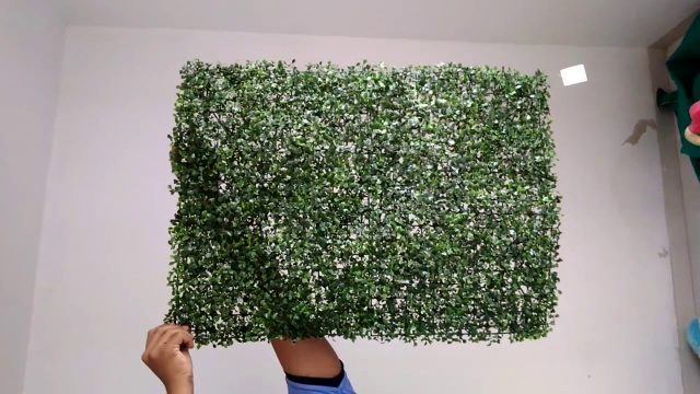 Artificial Green wall Installation.Interior Decoration  with low budget..