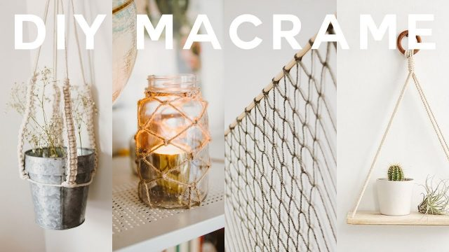 DIY Macrame Room Decor 2018 🍂Boho + Anthropologie (Wall Hanging, Plant Holder + MORE) // Lone Fox