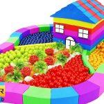 Johnny Johnny yes Papa   Learn Colors Rainbow Peppa Pig Garden Villa Kinetic Sand, Mad Mattr, Slime