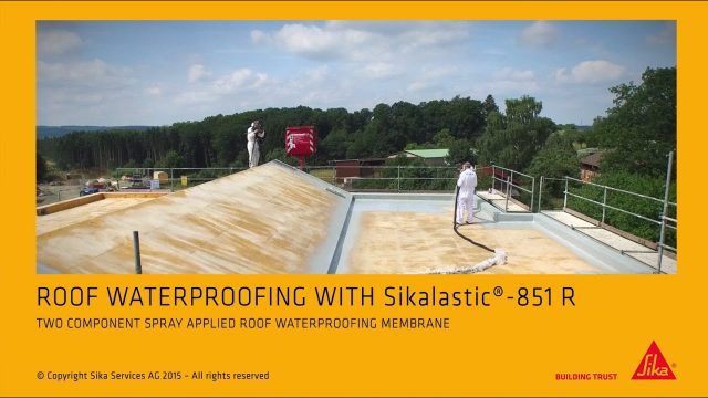 Liquid applied roofing membrane Sikalastic 851 R