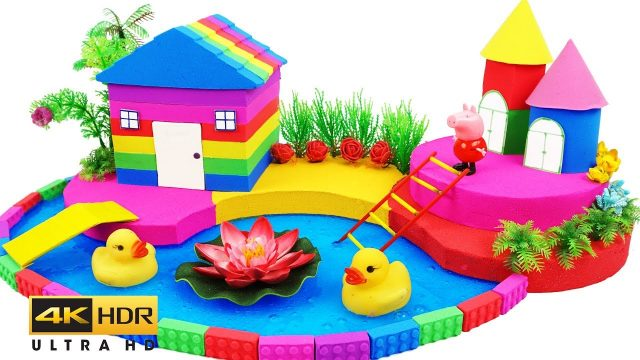 Wheels On The Bus Learn Colors Rainbow Mad Mattr Peppa Pig Garden House, Pool, Castle Toys for Kids