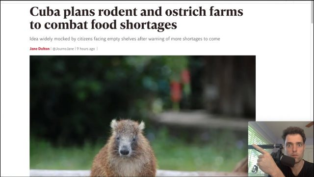 """""""Spring Blizzard"""" – Cuba's Rodent & Crocodile Farms – Agriculture Suffering"""