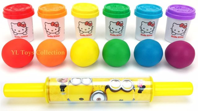 Learn Colors Hello Kitty Dough with Easter Play Doh Garden Tools for Kids I Surprise Toys LOL
