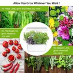 Indoor Gardening Kit Hydroponics Growing System Kit w/LED Plant Grow Light f…