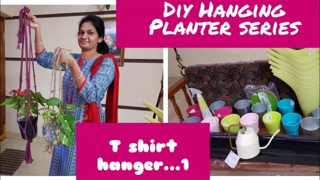 DIY Hanging Planter Series/T-SHIRT plant hanger..1,#gardening diy #Ikea shopping