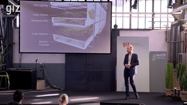 Michael Fernandez (AeroFarms), Indoor Vertical Farming | GIZ tech2D