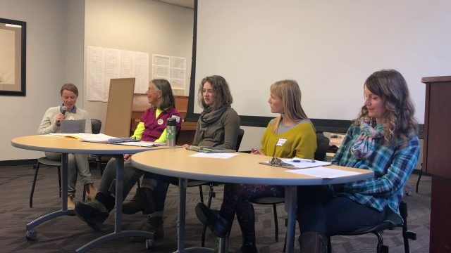 Panel Discussion on School Gardens at Field to Family's workshop in Dec. 2018