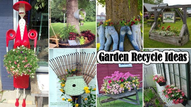 100 Cute Garden Recycle Ideas | DIY Garden