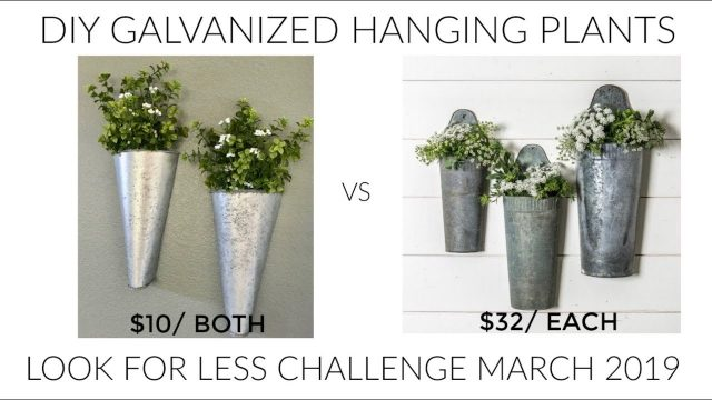 LOOK FOR LESS CHALLENGE MARCH// DIY GALVANIZED WALL PLANTERS