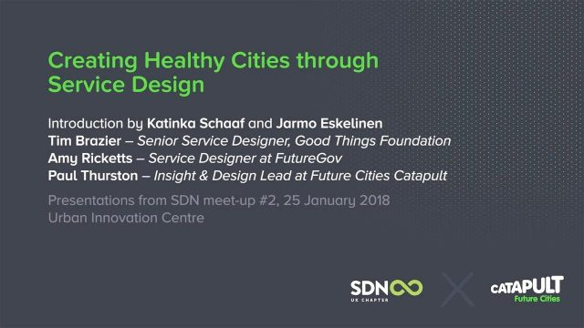 Creating Healthy Cities through Service Design