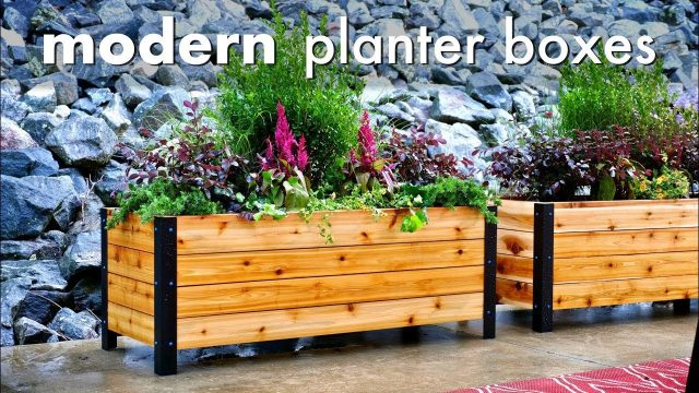 DIY Modern Raised Planter Box // How To Build – Woodworking