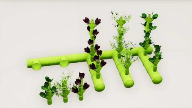 Modular Spiral Aeroponics* – vertical Farming Planting PORT