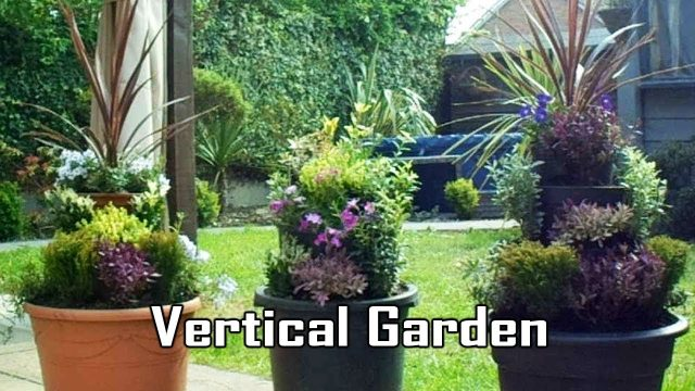 Vertical Garden, Raised Multi-tier Used Plant Pot Tower Planters, Gardening Ideas