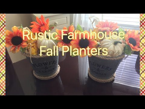Rustic Farmhouse Style Fall Inspired Wall Planters