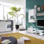 Wohnwand und Sideboard Move in Hochglanz weiß