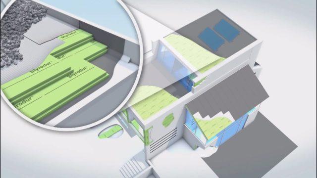BASF´s Styrodur® – der grüne XPS Dämmstoff kommt zum Einsatz im Umkehrdach
