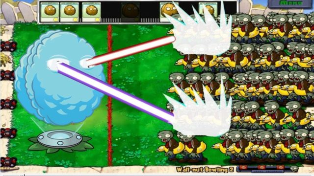 Giant Plant Wall Nut Bowling vs Ducky Tube Zombie Epic Hack Plants vs Zombies