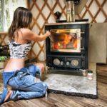 Amazing Off Grid Yurt | Installing a Wood Stove & Chimney – Part 2