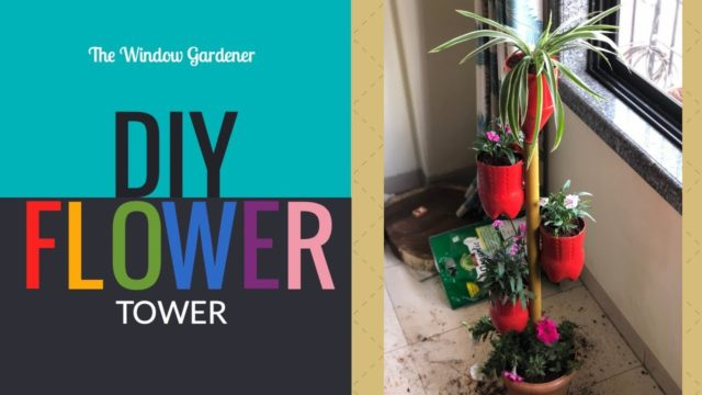 Flower Tower DIY | Window gardening | Vertical planters