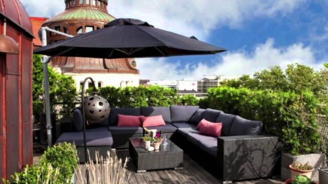 Green Rooftop Terrace Design Ideas