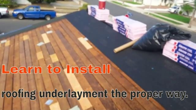 How to install Roofing underlayment  the proper way , why I use 30 Lbs. VS Synthetic ?