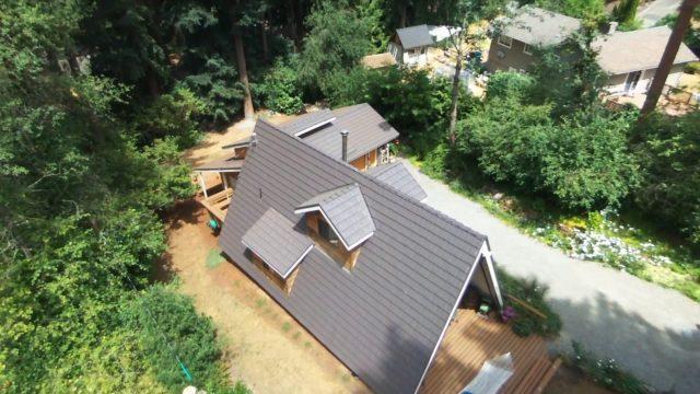 Rustic Shingle Aluminum Roof Mustang Brown
