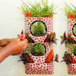 How to Make Beautiful Vertical Garden From Cement Use/Vertical garden diy