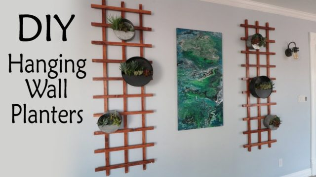 DIY Hanging Wall Planters – A Cheap Easy Project!