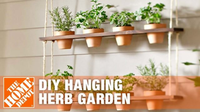 DIY Herb Garden | Vertical Hanging Garden | The Home Depot