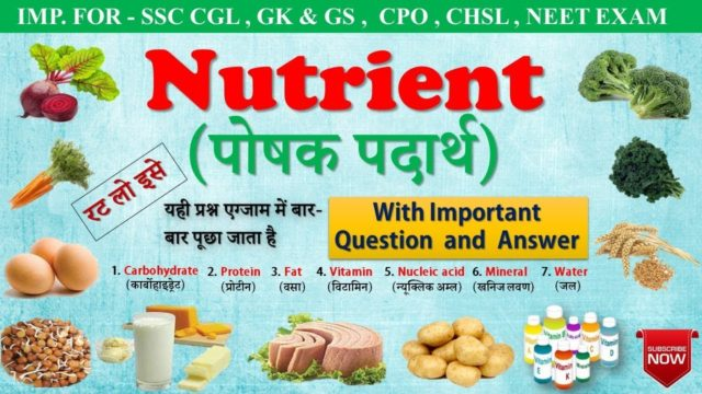 General Science | Nutrients in hindi : (पोषक पदार्थ) | Carbohydrate, Protein, Fat & vitamin _mp4