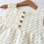 How to crochet a girl's pretty shell stitch dress / top – The Lily Dress