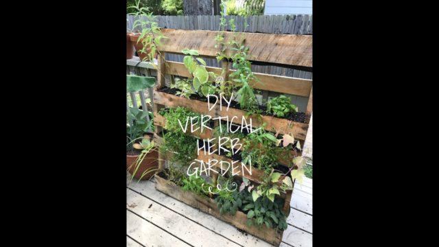 DIY Vertical Herb Garden Pallet