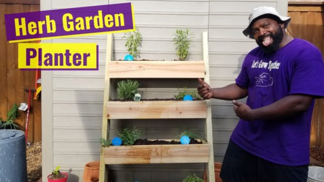DIY Vertical Herb Garden Planter