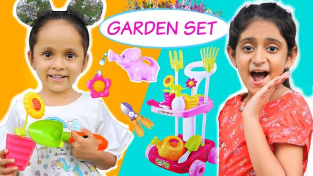 KIDS Pretend Play with Garden Set – CLEANING & GARDENING | #FunLearning #MyMissAnand #ToyStars