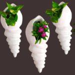 Wall Hanging Flower Pot/Decorative Flower Vase Showpiece/DIY Wall Hanging Cement Pot//GREEN PLANTS