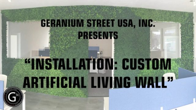 Installation: Custom Artificial Living Wall