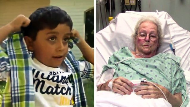 Little Kid Sees 'Lifeless' Old Lady Laying In Garden. He Jumps Into Actions After Seeing Her Back