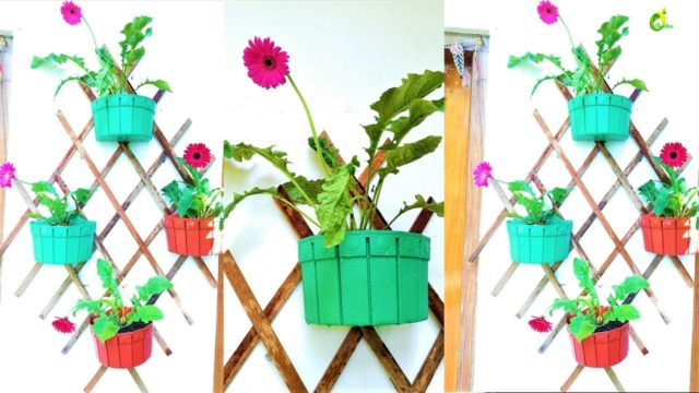 wall decor plants ideas/ wood waste ideas/wall garden /wall mounted planter//ORGANIC GARDEN