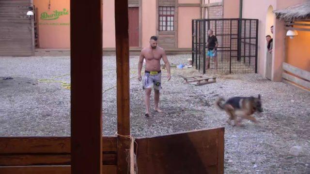 Zadruga 3 – Vladimir se igra sa Ajaksom, dirljiva scena – 08.09.2019.