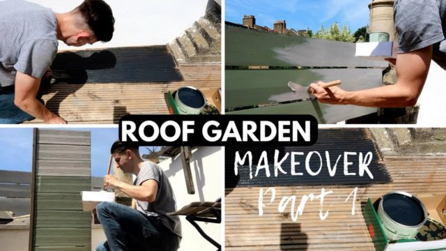 ROOF GARDEN MAKEOVER PART 1 | SMALL GARDEN MAKEOVER UK ON A BUDGET WITH TIME LAPSE!