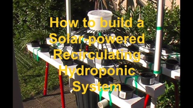 How to build a solar-powered recirculating hydroponic system