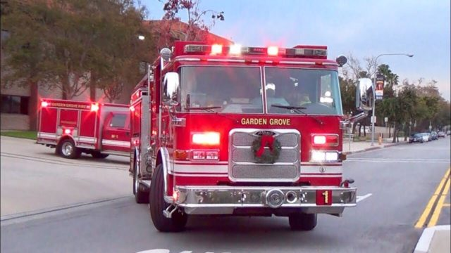 Garden Grove Fire Dept  Engine 1 & Medic 1