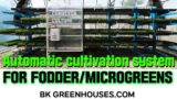 Microgreens and fodder vertical growing system-BK  Conveyor Culture