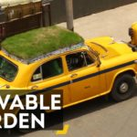 A Different Kind Of Green Car With A Rooftop Garden